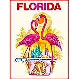 Orlando Flamingo Birds Florida United States of America Vintage Travel Advertisement Art Poster Print. Poster measures 10 x 13.5 inches