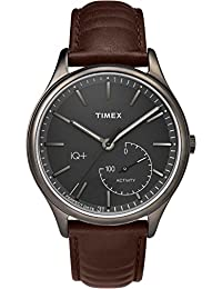 Timex Men's TW2P94800L3 Fashion IQ+ Move Gray Dial with Brown Leather Strap Watch
