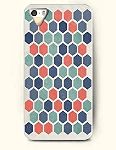 iPhone 5/5S Case, OOFIT Phone Cover Series for Apple iPhone 5 5S Case (DOESN'T FIT iPhone 5C)-- Multi-Colored Hexagon Print -- Honeycomb Pattern