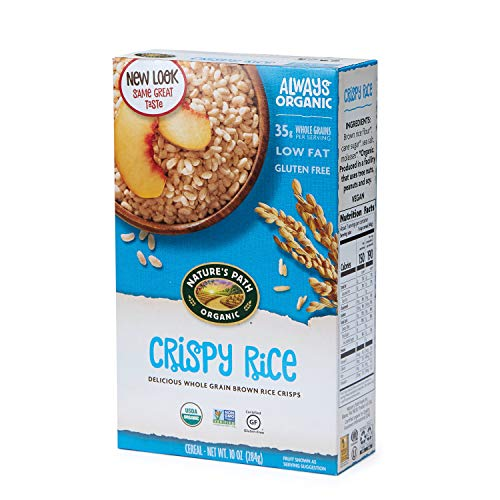 Nature's Path Crispy Rice Cereal, Healthy, Organic, Gluten-Free, 10.6 Ounce Box (Pack of 6) Crispy Brown Rice Cereal