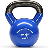 Yes4All Vinyl Coated Kettlebell Weights Set – Great for Full Body Workout and Strength Training – Vinyl Kettlebell 40 lbs Review