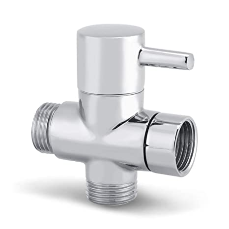 2 Way Shower Diverter Valve.G1 2 Inch 3 Way Shower Arm Diverter Valve Bathroom Universal Shower System Component Replacement Part For Hand Held Showerhead And Fixed Spray