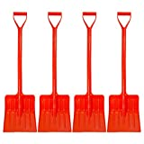 EMSCO Group 34 Inch Kids Snow Shovel – Kid Safe (non-metal) – Winter Toy for Ages 2 to 10, 4-Pack