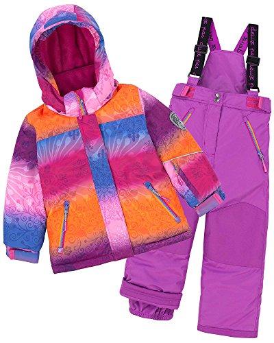 Deux par Deux Girls' 2-Piece Snowsuit Snow Sunset Purple, Sizes 4-14 - 10 by Deux par Deux