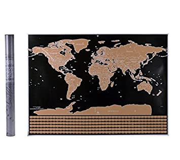 Amazon scratch off world map world countries and us states scratch off world map world countries and us states map perfect gift for gumiabroncs Images