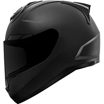 GDM Duke Helmets DK-346 Full Face Motorcycle Helmet (Matte Black, XL)