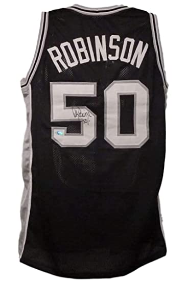 David Robinson Autographed San Antonio Spurs Xl Black Jersey Tristar ... 7243f04b0