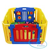 MCC Plastic Baby Playpen with Activity panel & corner extensions 8 pcs