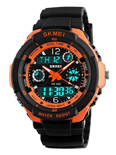 Gosasa Multifunction Sport Watch Mens Digital Shock Resistant Quartz Alarm Waterproof Wristwatches