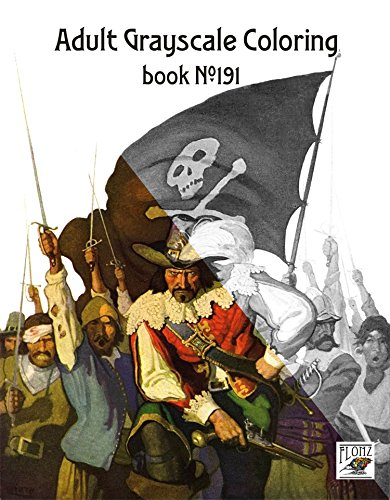 adult-coloring-book-24-pages-8x11-a4-pirates-naval-action-newell-wyeth-flonz-vintage-designs-for-gra
