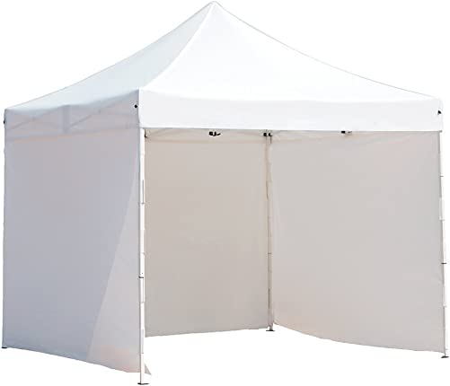 Abba Patio 10 x 10 ft Pop Up Heavy Duty Instant Canopy Commercial Portable Canopy with Sidewalls Enclosure, White