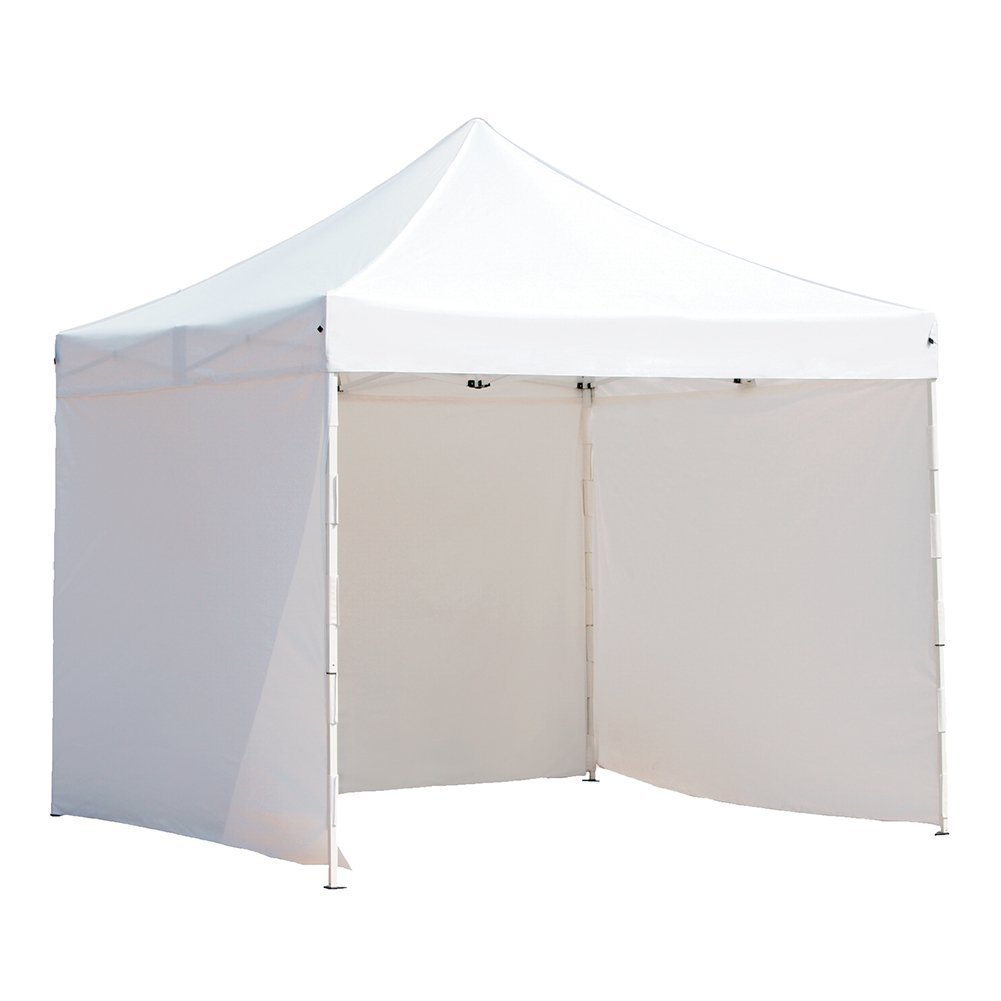Abba Patio 10 x 10 feet Pop Up Heavy Duty Instant Canopy Commercial Portable Canopy with Sidewalls Enclosure, White