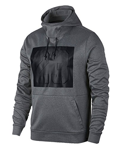Nike Mens Jordan Rise 23 Pullover Hoodie Carbon Heather 861475-091 Size 2X-Large by Jordan