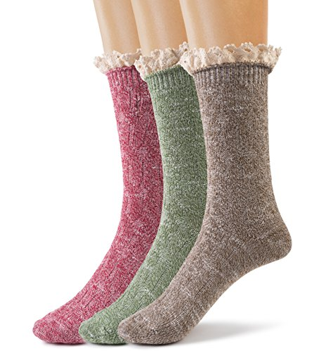 Silky-Toes-Womens-Vintage-Thick-Warm-Winter-Casual-Boot-Socks-with-Lace-3-Pk-With-Optional-Gift-Box