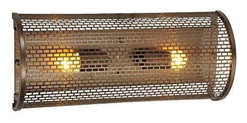 Forged Bronze Two Light Bath - Varaluz 231B02NB Lit-Mesh Test 2-Light Vanity - New Bronze Finish