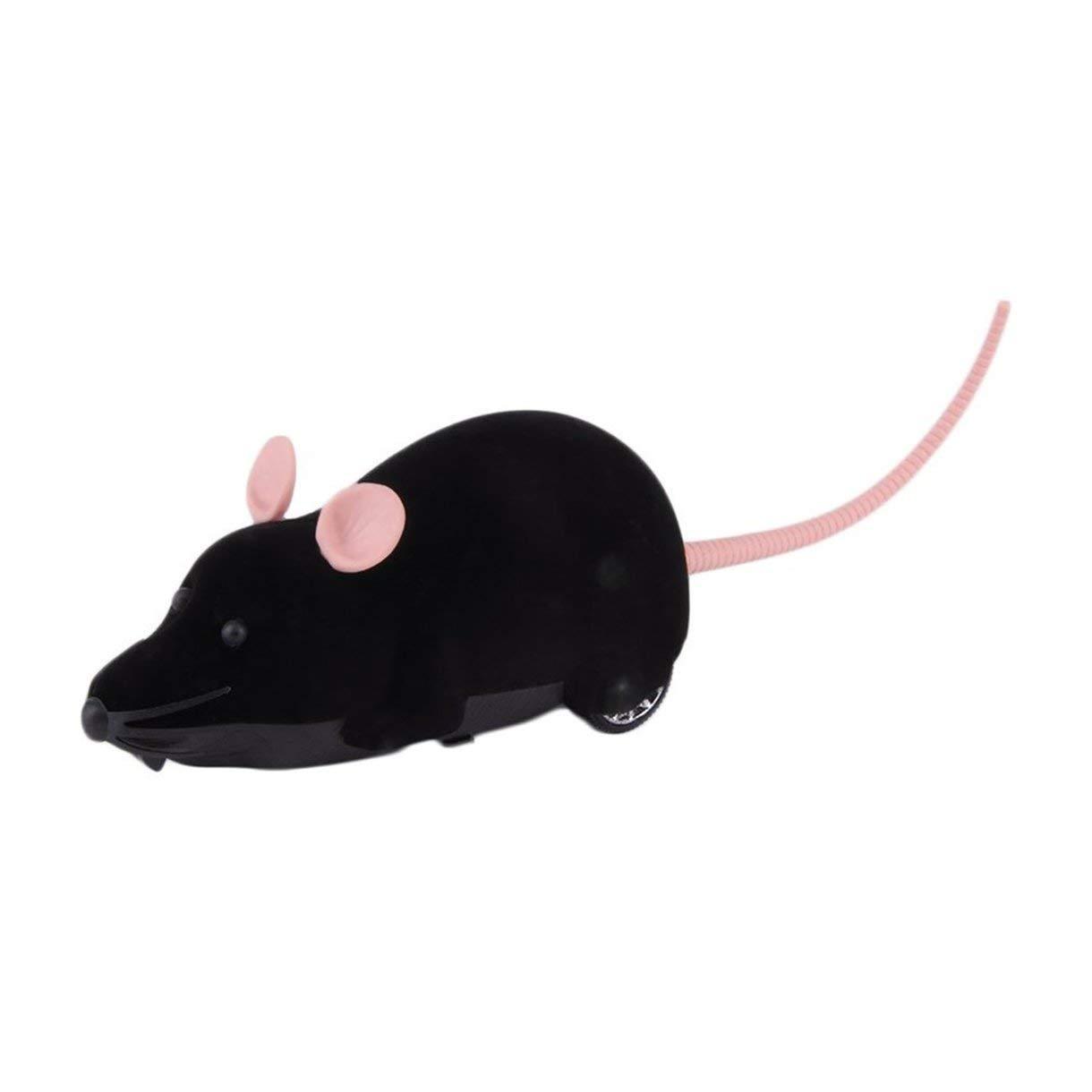 Color: Gris Control Remoto inal/ámbrico Rat/ón Simulaci/ón de pl/ástico Animales Rata electr/ónica Divertido Movimiento Ratones Juguete Mascota Gato Juguete