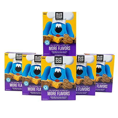 Blue Dog Bakery Natural Dog Treats, Assorted, More Flavors, (Pack of 6) Packaging may vary