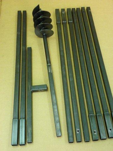 Erdbohrer Erdlochbohrer Brunnenbohrer Pfahlbohrer 150 mm 10 meter