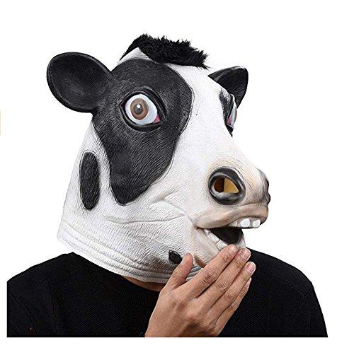 Waylike Novelty Latex Animal Cows Mask for Halloween Costume Party -