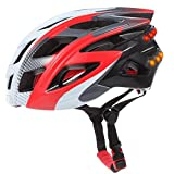 Super Smart Shopping Smart Bicycle Safety Helmet,Bluetooth Bicycle Helmet with LED Turn Signal Indicator,SOS Alert,Hands-free Phone Call,Music Player,photo shooting(Red)