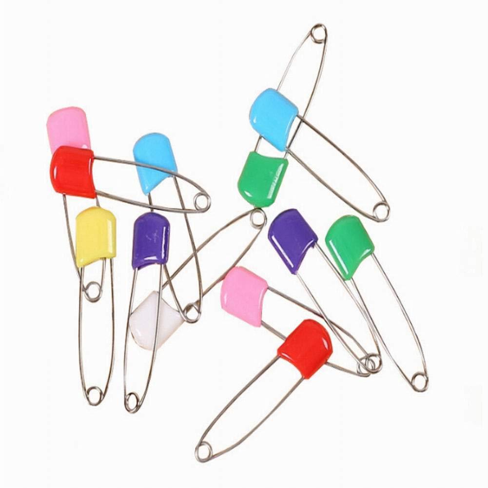 Housesweet 6pcs Diaper pins en acier inoxydable à langer épingles de blocage de sécurité avec fermetures à utiliser pour événements spéciaux Crafts ou coloré épingles à linge 1*5.5cm Mélange de couleurs