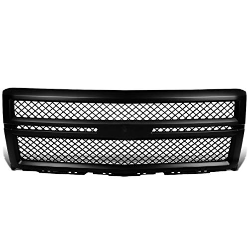 DNA MOTORING Black GRLDBEN-CSIL14-BK ABS Plastic Front Bumper Grille [for 14-15 Chevy Silverado 1500] ()