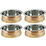 Dinnerware Indian Serving Bowl Copper Tureen Set of 4