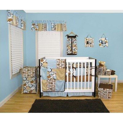 Trend Lab Teal Bubbles (Bubbles Teal 4 Piece Crib Bedding Set & FREE Picture Frame Set)