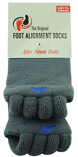 Original Foot Alignment Socks Large Womens 10+/ Mens 9+ Charcoal Happy Feet (Happy Feet Socks)