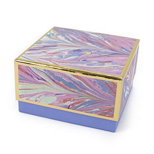Hallmark Signature 7quot Medium Gift Box Marble Pink Lavender Gold for  Valentines Day Birthdays Bridal Showers Mothers Day and More