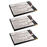 3pcs eBook Reader Li-Po Battery EBBK-R70F452 for Pandigital Nova, Supernova Pandigital MLP656095, Pandigital NOVA, Pandigital R70A200, Pandigital R70B200, Pandigital R70F452, Pandigital R70F453