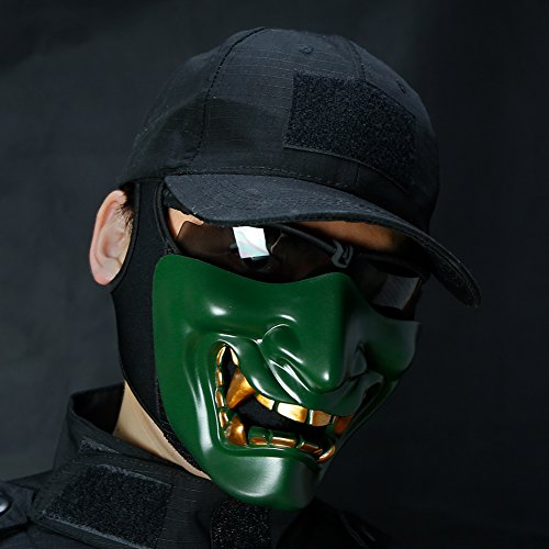 HYOUT Half Face Airsoft Mask,Halloween Costume Cosplay BB
