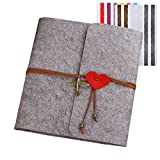 FORUSKY 60 Pages 23.6 x 24.7 cm DIY Scrapbook Wedding Anniversary Album,Lover Recording Album,Baby Growing Album,Traveling Record Book for Instant Mini,Wide Camera Film,Gifts - Gray