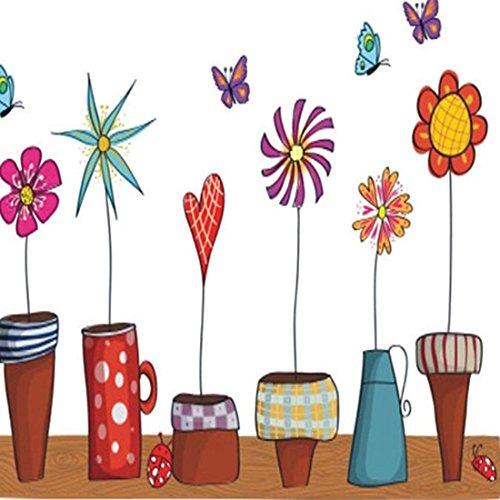 Review Wall Sticker Flowers Pots