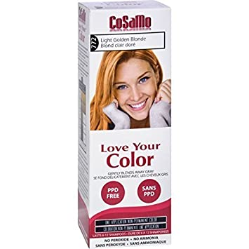ammonia peroxide free hair color hydrogen peroxide cosamo love your color ammonia peroxide free hair color 772 light golden amazoncom