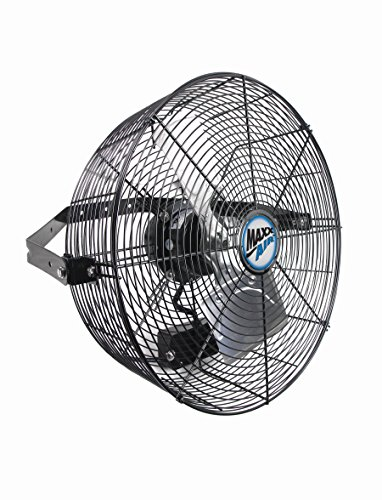 Maxxair Commercial Grade Industrial High Velocity Wall Mount Fan, 18-Inch, | Heavy Duty Patio, Barn, Shop | 18 Inches