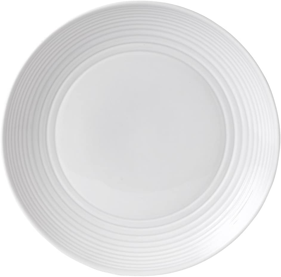 Gordon Ramsay by Royal Doulton Maze White Dinner Plate, 11-Inch, Set of 4