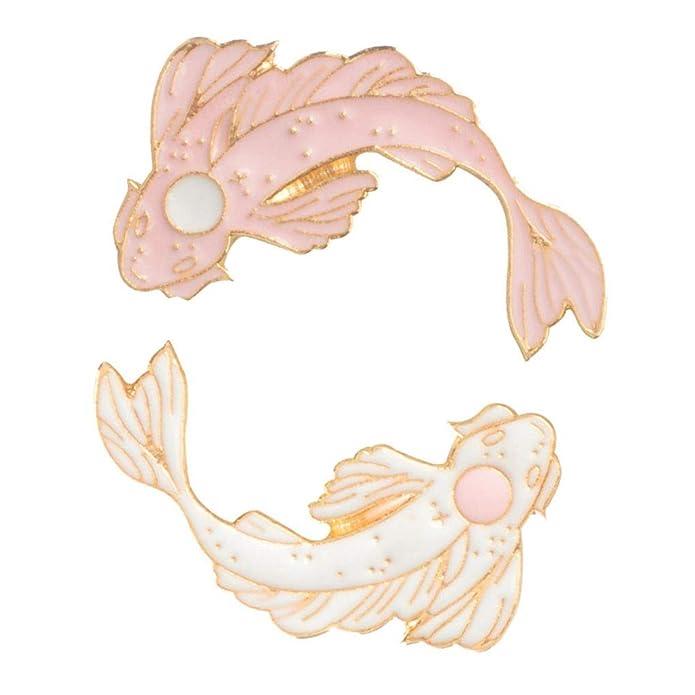 Accessories Koi Brooch Fish Carp Badge Denim Jacket Lapel Goldfish Enamel Pin