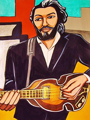 Violin Mccartney Paul Bass (PAUL McCARTNEY PRINT POSTER The Beatles cd lp record rubber soul album pick vinyl hofner violin bass revolver)