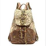 Women Bags Polyester Cotton Backpack Sashes/ Ribbons Tassel for Casual All Season Khaki,Khaki
