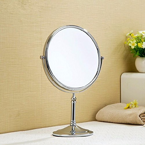 Desktop double-sided makeup mirrors bathroom mirrors/Magnifier make-up mirror mirror dressing table mirror 1515 8 inch