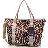 Mummy Baby Diaper Bag Crossbody Weekender Tote Fashion Leopard Print Large Capacity
