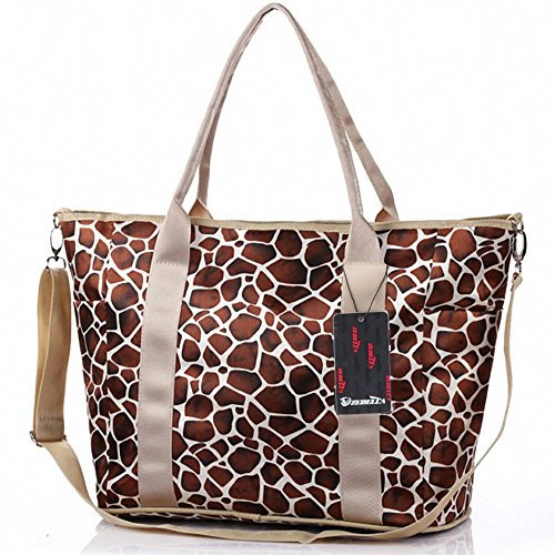Mummy Baby Diaper Bag Crossbody Weekender Tote Fashion Leopard Print Large -