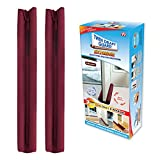 Twin Draft Guard Extreme in Burgundy - Set of 2 - Energy Saving Under Door Draft Stopper