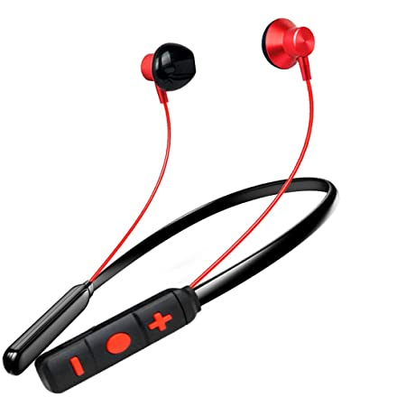 PTron Tangent Pro Headphone Neckband Stereo Earphone Bluetooth Headset with Mic for All Smartphones (Red/Black) In-Ear Headphones at amazon