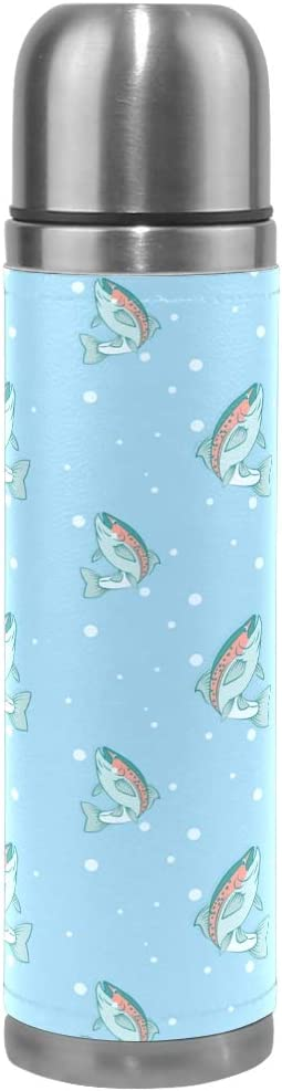 RAINBOW TROUT FISH STAINLESS STEEL 24oz WATER BOTTLE