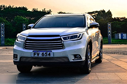 GOWE Car Styling For Toyota HIGHLANDER headlights For HIGHLANDER head lamp Angel eye led DRL front light Bi-Xenon Lens xenon Color Temperature:6000k;Wattage:35w 1