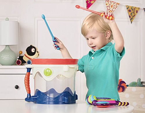 51 a1YCG HL - B. toys- B. Drumroll - Toy Drum Set (Includes 7 Percussion Instruments for Kids)