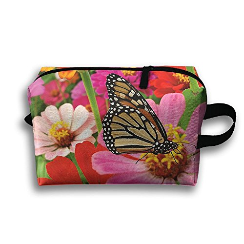 Women's Travel Case Cosmetic Storage Bags Butterfly Honeybee Pattern Makeup Clutch Pouch Organizer Bag Pencil Holder -