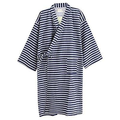 Women Sleepwear Cotton Robes Kimono Pajama Plus Size Night Gown Loose Lounger